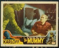 #080 MUMMY lobby card #3 R51 Boris Karloff in Mummy atire!!