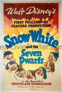 029 SNOW WHITE & THE SEVEN DWARFS linen, style A 1sheet