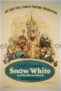 675 SNOW WHITE & THE SEVEN DWARFS linen style B 1sheet