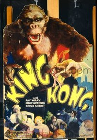 306 KING KONG ('33) mounted on board lobby standee