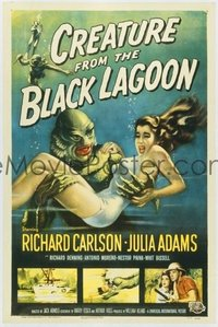 v045 CREATURE FROM THE BLACK LAGOON  1sh '54 classic!