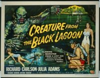 VHP7 371 CREATURE FROM THE BLACK LAGOON style B half-sheet movie poster '54