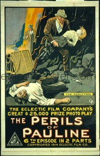 206 PERILS OF PAULINE ('14) linen 1sheet