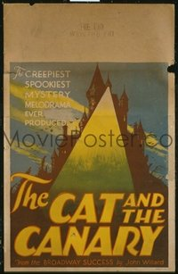 158 CAT & THE CANARY ('27) castle style WC