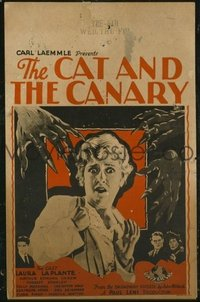 157 CAT & THE CANARY ('27) girl style WC