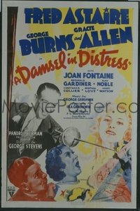 111 DAMSEL IN DISTRESS ('37) linen 1sheet