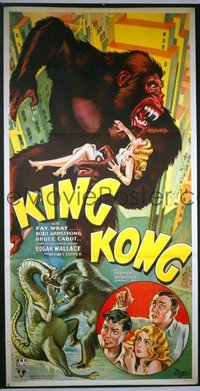 202 KING KONG ('33) linen, cartoony style 3sh