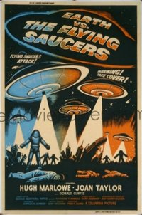 236 EARTH VS. THE FLYING SAUCERS 40x60