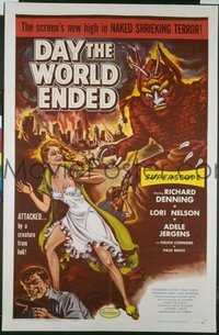 358 DAY THE WORLD ENDED ('56) 1sheet