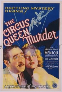 067 CIRCUS QUEEN MURDER linen 1sheet