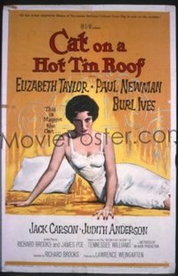 #302 CAT ON A HOT TIN ROOF 1sh '58 Liz Taylor