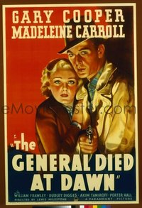 029 GENERAL DIED AT DAWN paperbacked 1sheet