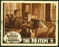 #216c 39 STEPS #4 lobby card R38 Donat with murdered Mannheim!!
