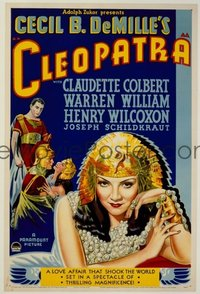 327 CLEOPATRA ('34) paperbacked 1sheet