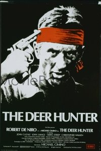 019 DEER HUNTER UF English 1sh '78 directed by Michael Cimino, Robert De Niro, Russian Roulette!