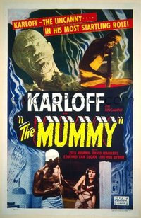 156 MUMMY style A R51 Noble Johnson, Zita Johann & Boris Karloff the uncanny in most startling role!