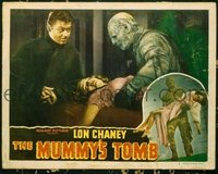 #083 MUMMY'S TOMB lobby card #2 R40s Lon Chaney Jr & Turhan Bey!
