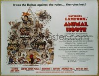 #402 ANIMAL HOUSE linen subway movie poster '78 John Belushi!