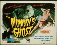 #082 MUMMY'S GHOST title lobby card R48 Chaney, nameless & fleshless!!
