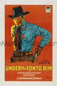 232 UNDER THE TONTO RIM ('28) linen 1sheet