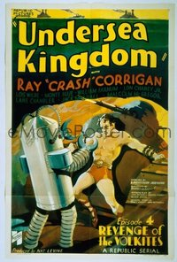 257 UNDERSEA KINGDOM signed by Crash Corrigan 1sheet