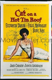 321 CAT ON A HOT TIN ROOF ('58) linen 1sheet