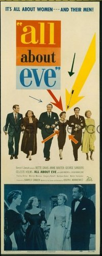 v267 ALL ABOUT EVE  insert '50 Bette Davis, Anne Baxter