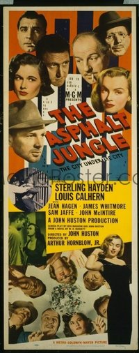 VHP7 432 ASPHALT JUNGLE insert movie poster '50 sexy Marilyn Monroe!