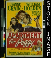 #039 APARTMENT FOR PEGGY 1sh '48 Crain,Holden