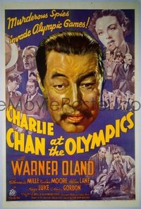 081 CHARLIE CHAN AT THE OLYMPICS linen 1sheet