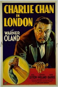 101 CHARLIE CHAN IN LONDON linen 1sheet