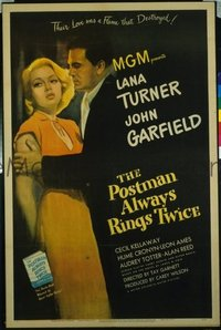 220 POSTMAN ALWAYS RINGS TWICE ('46) linen 1sheet