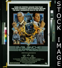 #050 AVALANCHE EXPRESS 1sh '79 Lee Marvin