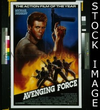 #053 AVENGING FORCE 1sh '86 cool image!