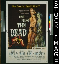 #271 BACK FROM THE DEAD 1sh '57 Castle, Franz