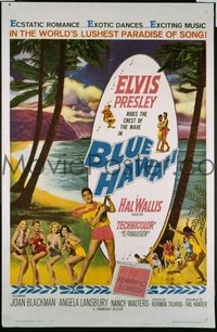 #035 BLUE HAWAII one-sheet '61 Elvis Presley