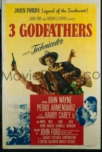 006 3 GODFATHERS ('49) linen 1sheet