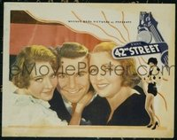 2102 42ND STREET #3 lobby card '33 great close portrait of stars!