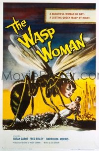 #330 WASP WOMAN one-sheet movie poster '59 clasic Corman sci-fi image!!
