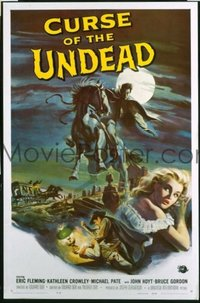 #269 CURSE OF THE UNDEAD one-sheet movie poster '59 wild Reynold Brown art!!