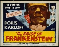 VHP7 092 BRIDE OF FRANKENSTEIN title lobby card R53 classic Boris Karloff