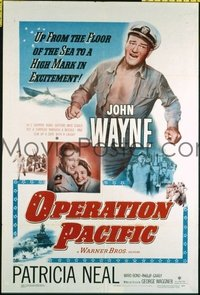 1577 OPERATION PACIFIC one-sheet movie poster '51 John Wayne, Patricia Neal