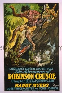 021 ADVENTURES OF ROBINSON CRUSOE ('22) linen 1sheet