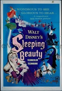 285 SLEEPING BEAUTY ('59) linen 1sheet