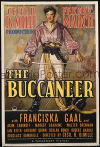 168 BUCCANEER ('38) paperbacked 1sheet