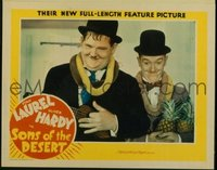190 SONS OF THE DESERT #2, Laurel & Hardy w/ leis LC