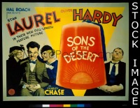 #173 SONS OF THE DESERT 1/2sh '33 Laurel & H