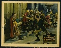 2107 ADVENTURES OF ROBIN HOOD lobby card '38 Errol Flynn duels!