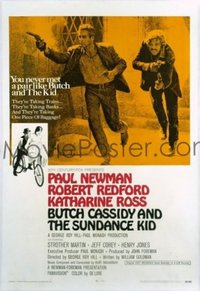 072 BUTCH CASSIDY & THE SUNDANCE KID style B, linen 1sheet