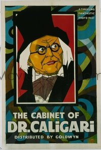 646 CABINET OF DR CALIGARI ('21) linen 1sheet